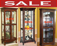 Best Deals of the Day, bookcase cabinets, wine cabinets, curio