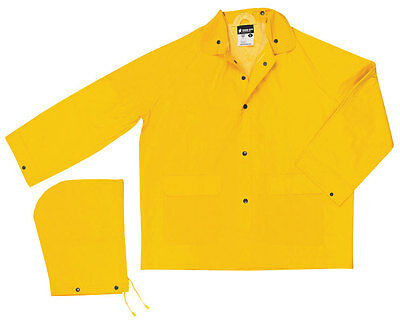 Hooded Detachable Classic Rain Jacket (Classic Yellow Rain Jacket With Detachable)