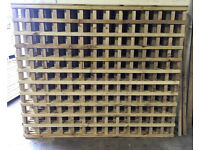🌳Pressure Treated Heavy Duty Wooden/Timber Trellis Fence Panels🌳Various Sizes