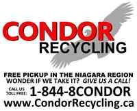 CONDOR RECYCLING - PICKUP OF TVs E-WASTE APPLIANCES BATTERIES