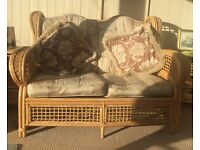 Conservatory chairs, coffee table, nest of tables and 2 X drawers