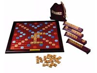 Scrabble Deluxe Wooden Rotating Game - NEW