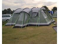 Outwell Montana 6, awning, fleece carpet and foldable cook station