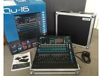 Allen & Heath Qu16 Digital Mixing Desk + Swan Flight Case - MINT Condition - As New!