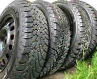 4 Goodyear Nordic Winter 185/65/14 Excellent tread 4X100 rims