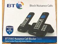 BT Nuisance Call Blocker Twin Cordless Phones