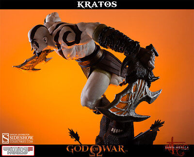 God Of War Lunging Kratos 1 4 Scale Statue Gaming Heads   Sideshow Mib