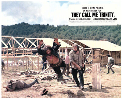 They Call Me Trinity Original Lobby Card  Bud Spencer Fight Scene Western