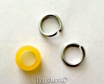 """DOLL REPAIR- ARM RINGS FIT 8"""" MUFFIE, GINNY DOLLS 1 ARM BAND ALSO INCLUDED"""