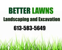 Better Lawns Landscaping and Excavation
