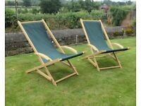 Two Rocking deck chairs. Neptune classics. Vintage inspired.