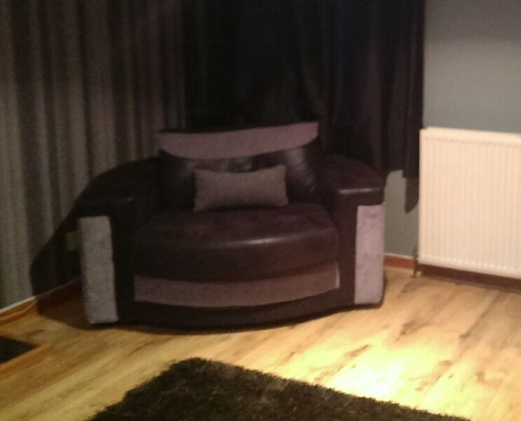 Black And Grey Cuddle Chair In Alyth Perth And Kinross