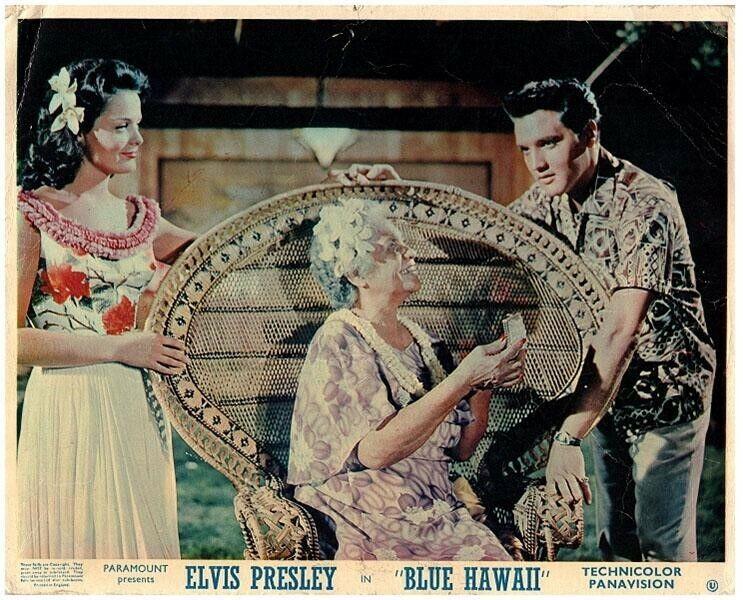 Elvis Presley Blue Hawaii Original Lobby Card Joan Blackman Hilo Hattie 1961