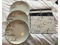 Script price & Kensington plates and placemats