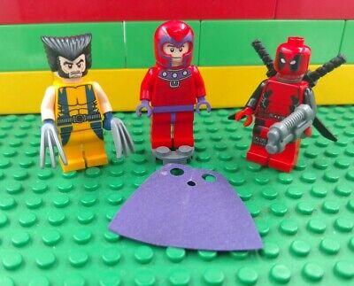 Lego minifigure X-men Deadpool Wolverine & Magneto 6866 Authentic