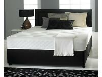 FREE EXPRESS DELIVERY ! DOUBLE DIVAN BED WITH ORTHOPEDIC MATTRESS