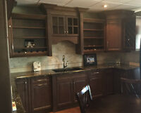 DISPLAY KITCHENS (COMPLETE) AND ASSORTED CABINETS