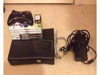Xbox 360 + games + controller