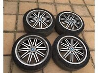 "Bmw 5 x 120 Alloy Wheels And Tyres 18"" - 5x120 Essex"