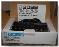 Mixeur Boss BX-60 6 channel stereo mixer