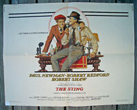 ORIGINAL RARE 1974 PAUL NEWMAN ROBERT REDFORD STING MOVIE POSTER