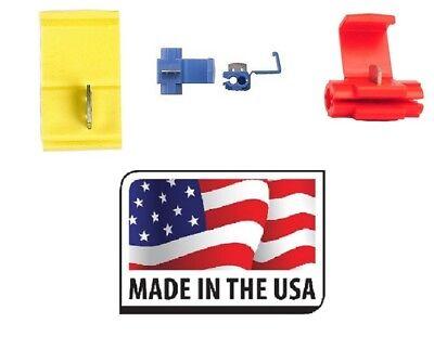 125 Scotch Locks Quick Splice Electrical Terminals Butt Assortment Made In Usa