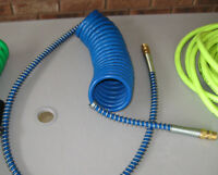 Tractor Trailer Coiled Air Hose (Cable) Brand NEW - Blue Colour