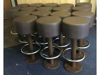 17 ex McDonald's bar stools heavy retail quality bolt to floor