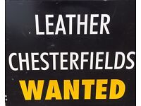 Leather chesterfields suites
