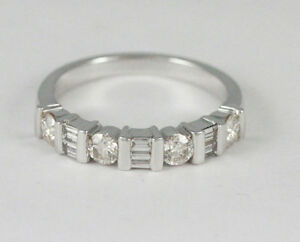 14k White Gold Diamond Band (0.60 tdw) #1935