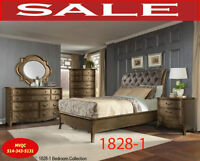 858LP, queen beds,1 dresser, mirrors, chests, site tables, headb