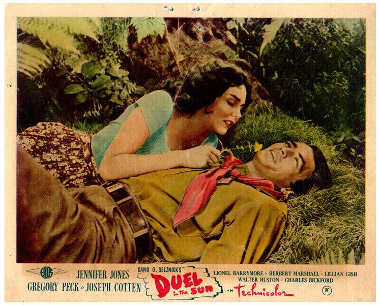 Duel In The Sun Original Lobby Card Gregory Peck Jennifer Jones 1946 classic