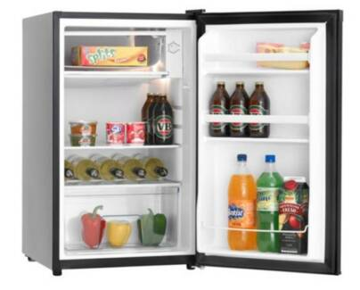 New Black Heller 116l Kitchen Bar Office Fridge Refrigerator