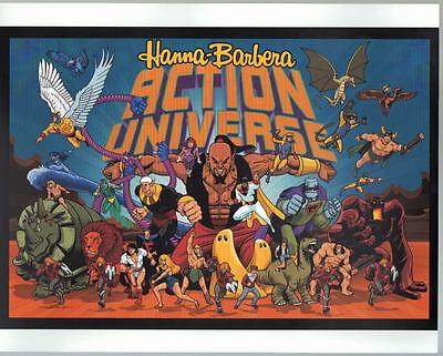 Hanna Barbera ACTION UNIVERSE PRINT Birdman Space Ghost Herculoids Samson Shazan