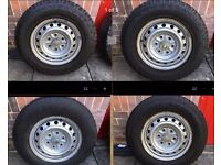 Set of 4 Mitsubishi L200 07 onwards Steel Wheels & tyres, offroad A/T M/S AT/M