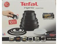 Tefal L6509042 Ingenio Expertise Non-Stick Induction Set, 13 Piece, Black