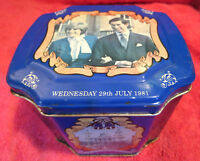 ► ►Royal Wedding Tea Tin of Charles And Diana - 1981◄ ◄