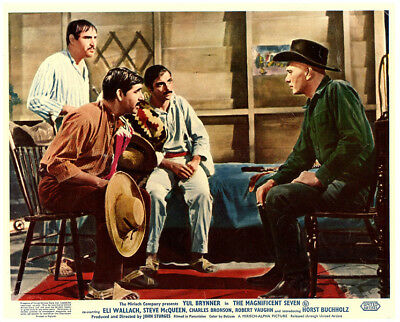 THE MAGNIFICENT SEVEN Original Lobby Card Yul Brynner 1960 classic western