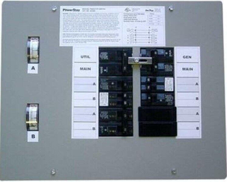 *NEW* GenTran Model 200660 - Manual Generator Transfer Switch 125/250V 11-1/2InH