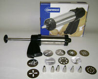DANESCO COOKIE PRESS ICING NOZZLES & COOKIE DISC CAKE DECORATING