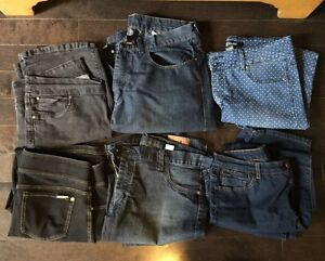 6 pairs of ladies jeans size 13-14