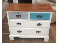 Upcycled Antique Shabby Chic Chest of Draws c1850