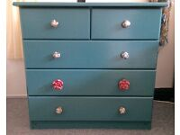 Up cycled solid wood chest of draws