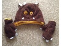 Gruffalo hat and mittens size 1-2 years