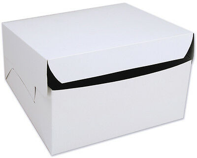 10 Count White 12x12x6 Bakery Or Cake Box