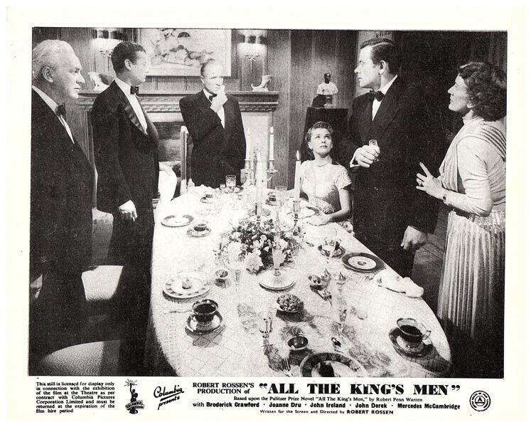 All the Kings Men Original Lobby Card Joanne Dru John Ireland Shepperd Strudwick