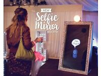 Mirror selfie booth from only £275 wedding car hire, limousine hire, led dance floor