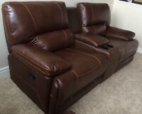 New reclining leather console love seat, sofa, chair $2000!