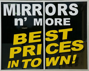 "Mirrors N'More Outlet @ 40 Snidercroft #8 opposite ""Improve""."