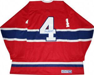 """AUTOGRAPHED""  jersey   -   JEAN BELIVEAU  (Montreal Canadiens)"